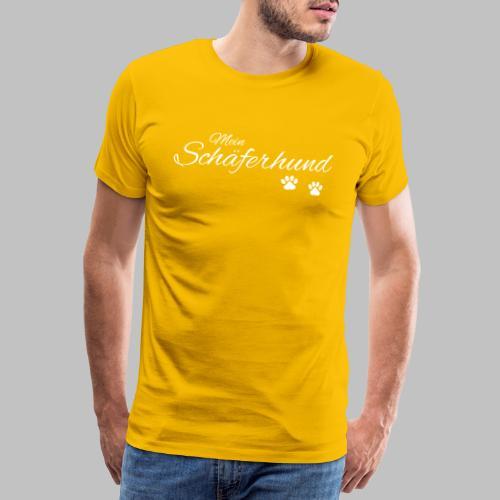 Mein Schäferhund - T-Shirt - Hoodie - Pullover - Männer Premium T-Shirt