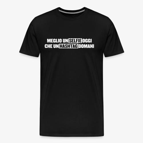 selfieTagW png - Maglietta Premium da uomo