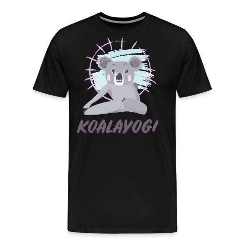 Koalayogi - Premium T-skjorte for menn