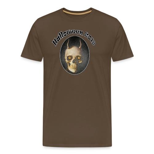 Halloween 2018 Horned Devil Skull - Men's Premium T-Shirt