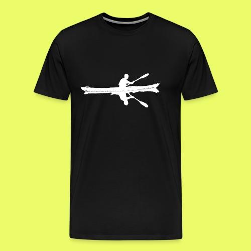Silhouette Weiß Seekajak - Männer Premium T-Shirt