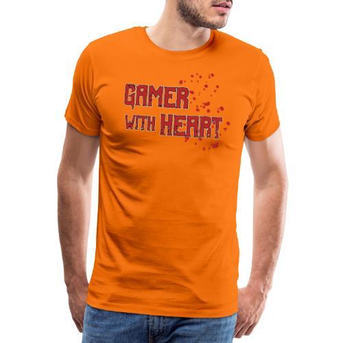 Gamer with heart - Men's Premium T-Shirt
