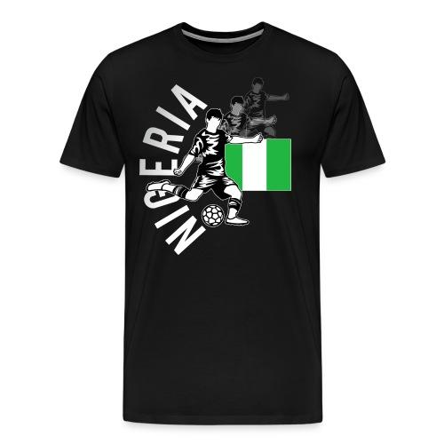 nigeria football shirt 2018 png - Männer Premium T-Shirt