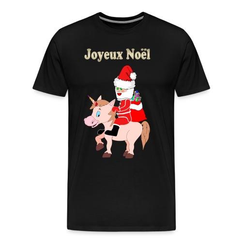 Le père Noël et la licorne - T-shirt Premium Homme