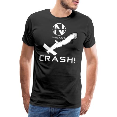 CRASH! + WE GO DOWN IN FLAMES! - Herre premium T-shirt