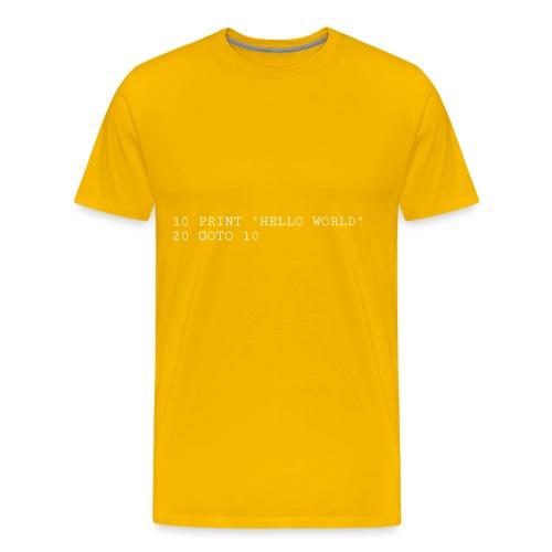 HELLO WORLD - Commodore64 BASIC - Herre premium T-shirt