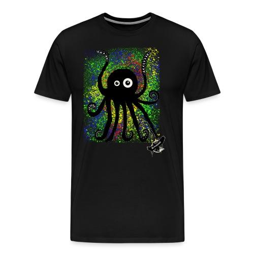 Sweet Octopus by BlackenedMoonArts, with logo - Herre premium T-shirt