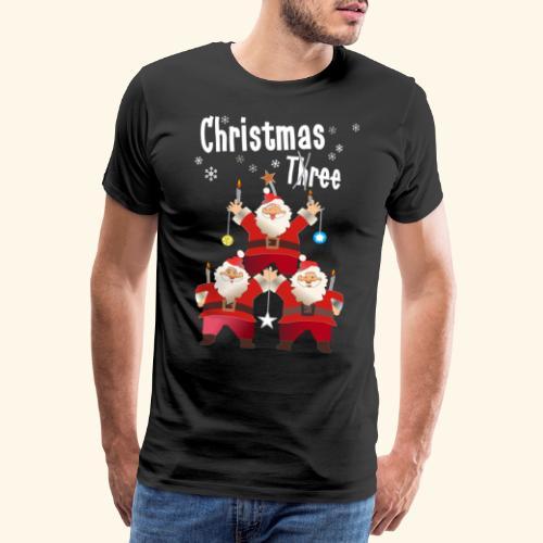 Christmas Three Weihnacht Baum drei - Männer Premium T-Shirt