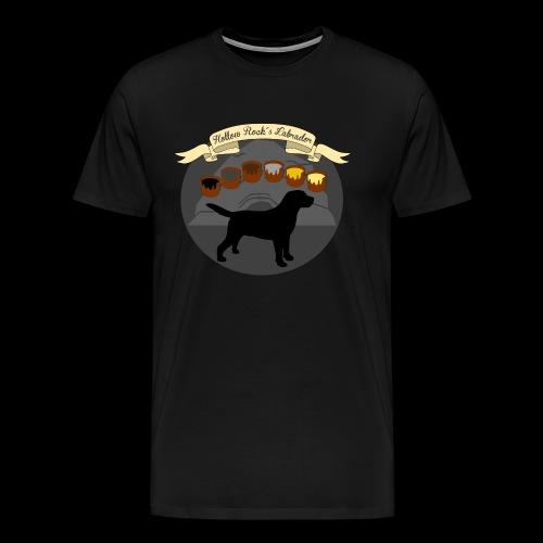 Hollow Rocks Labrador - Männer Premium T-Shirt