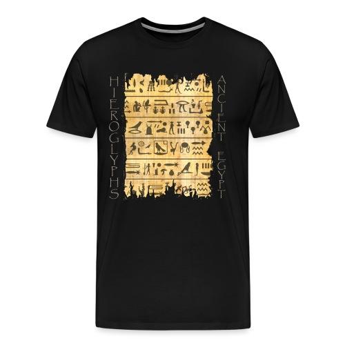 ausgerissener Papyri mit Hieroglyphen - Männer Premium T-Shirt