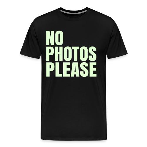 No photos please - Mannen Premium T-shirt