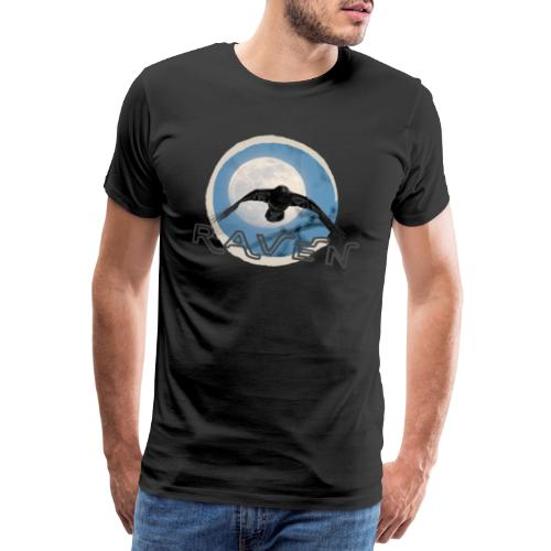 Australian Raven Full Moon - Men's Premium T-Shirt