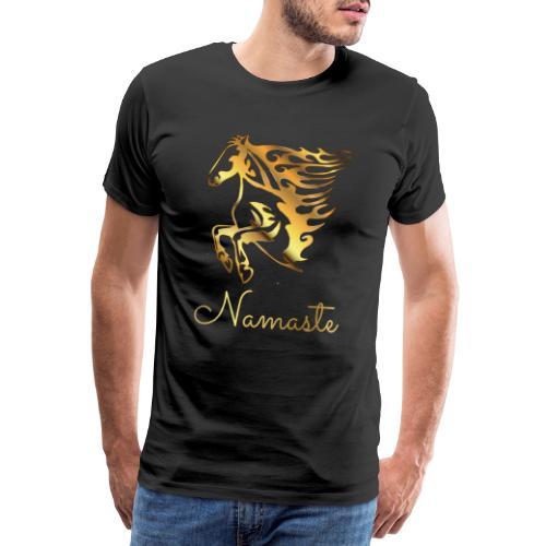 Namaste Horse On Fire - Männer Premium T-Shirt