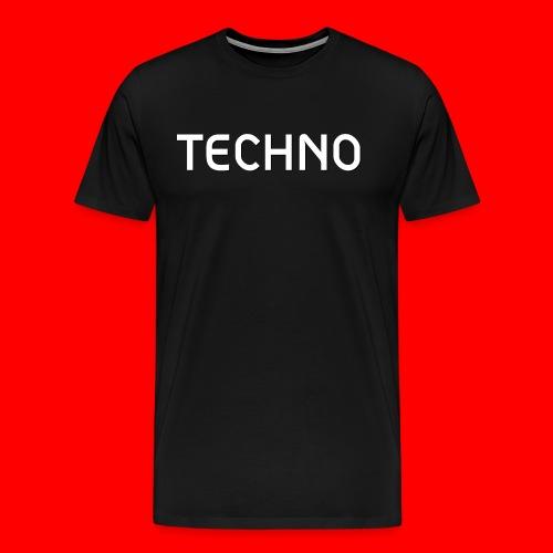Techno-White - Männer Premium T-Shirt