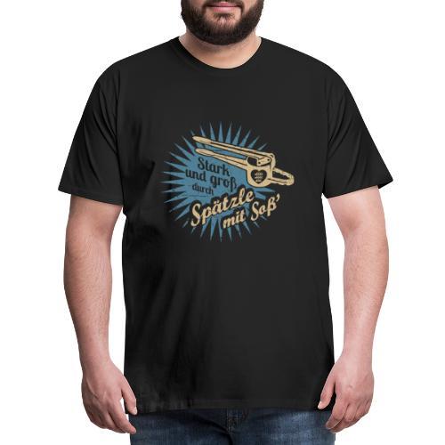 Spätzle mit Soß - Männer Premium T-Shirt
