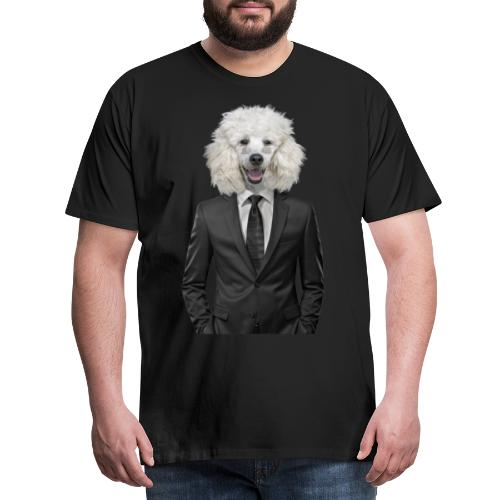 dog   poodle suit   animal in suit - Mannen Premium T-shirt