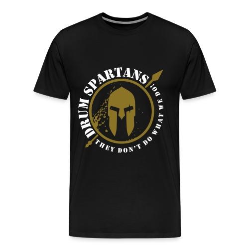 Drum Spartans Complete Logo - Men's Premium T-Shirt
