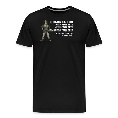Colonel 100Rules png - Men's Premium T-Shirt