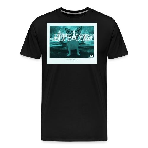 blue dog Monday PNG png - Männer Premium T-Shirt