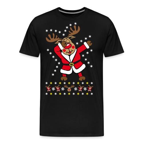 87 Dabbing Reindeer Rentier Hirsch Rudolph Funny - Männer Premium T-Shirt