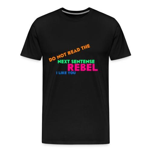 cafepressDONOTREAD png - Männer Premium T-Shirt