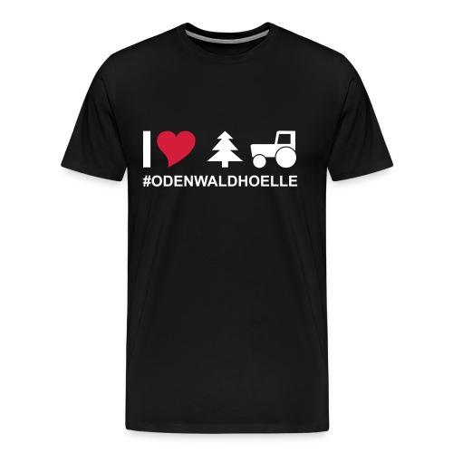 I love odenwaldhoelle Piktogramm - Männer Premium T-Shirt