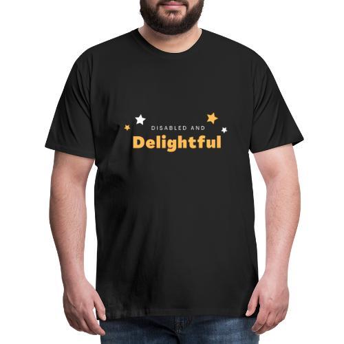 Handikappad och härlig - Premium-T-shirt herr