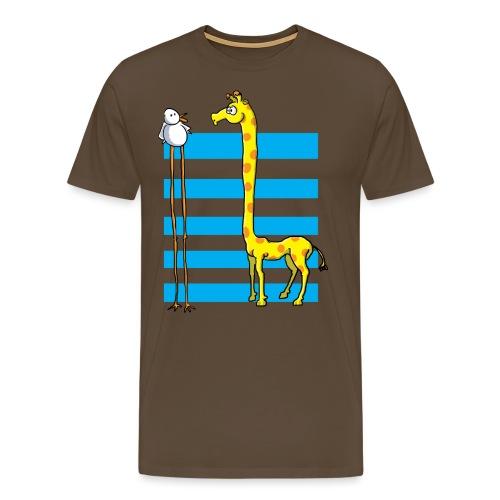 La girafe et l'échassier - T-shirt Premium Homme