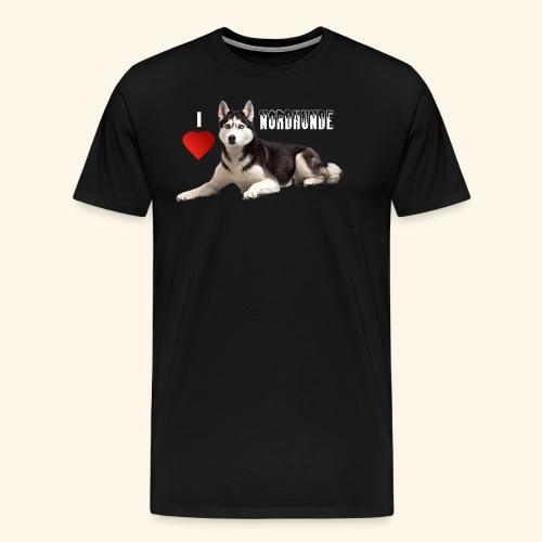 husky 08 weiss - Männer Premium T-Shirt