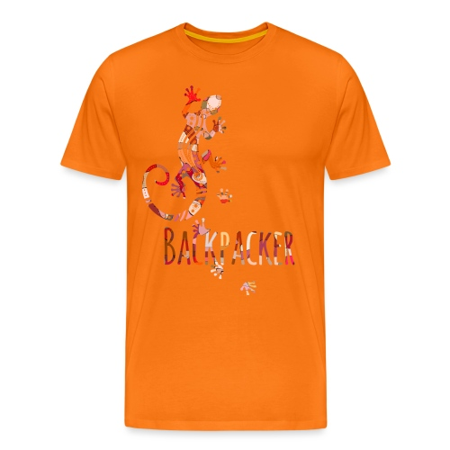 Backpacker - Running Ethno Gecko 4 - Männer Premium T-Shirt