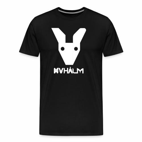 Nyhaalm Maskot, Hvid inkl. Navn. - Herre premium T-shirt