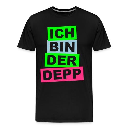 Ich bin der Depp - Balken - Männer Premium T-Shirt