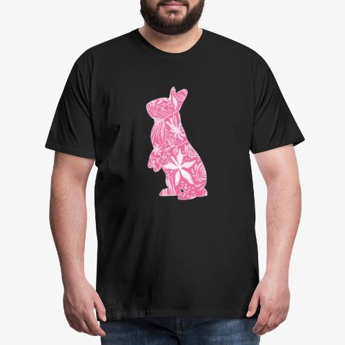 Flower Bunny II - Miesten premium t-paita