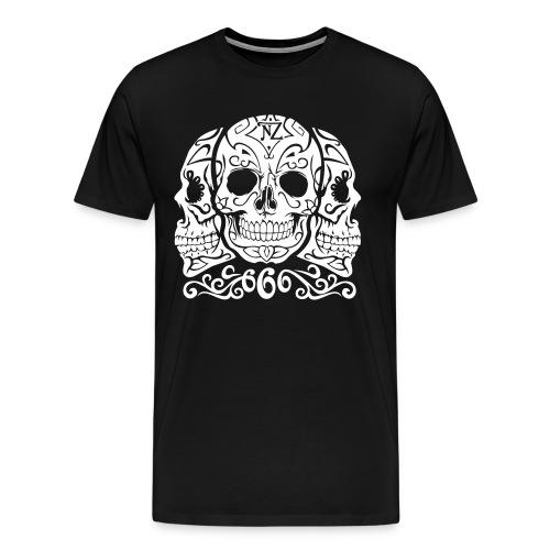 Skull Dia de los muertos - T-shirt Premium Homme
