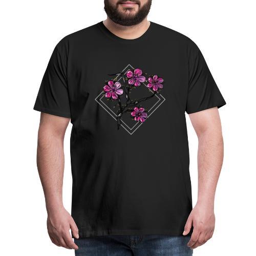 Flower (日本庭園) - Herre premium T-shirt