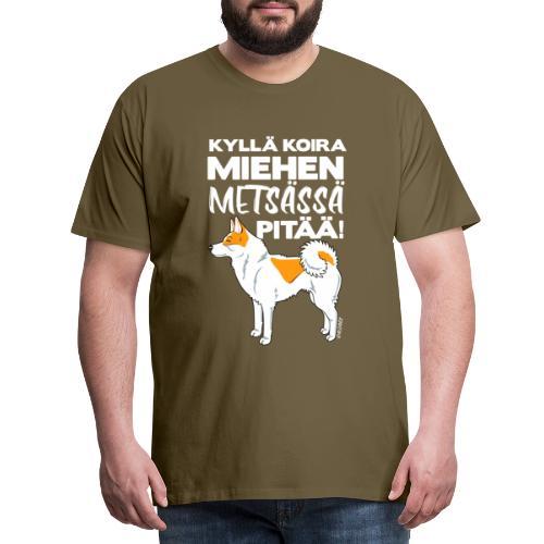 Pohjanpystykorva Metsaessae I - Miesten premium t-paita