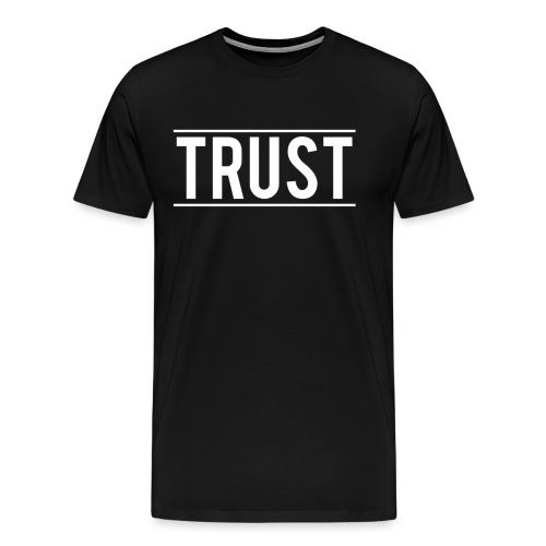 TRUST LOGO WHITE NO BACKGROUND png - Men's Premium T-Shirt