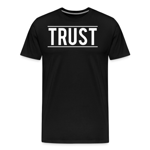 TRUST LOGO WHITE NO BACKGROUND png - Men's Premium T-Shirt