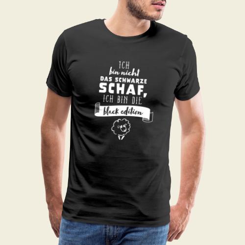 Schwarzes Schaf - black edition - Männer Premium T-Shirt