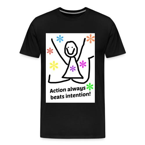 action jpg - Premium T-skjorte for menn