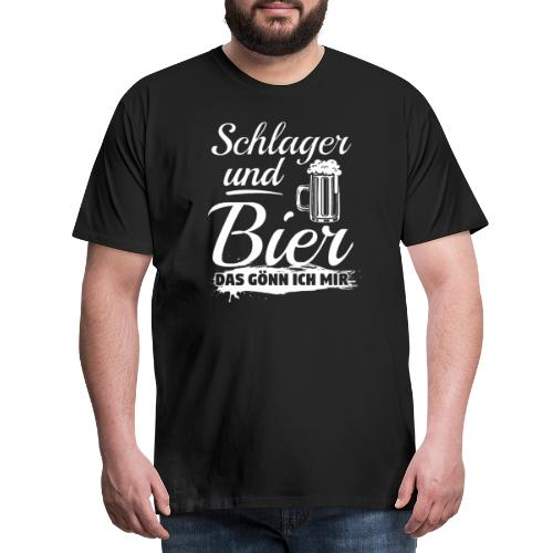 Schlager und Bier, das gönn ich mir! Funshirt - Männer Premium T-Shirt