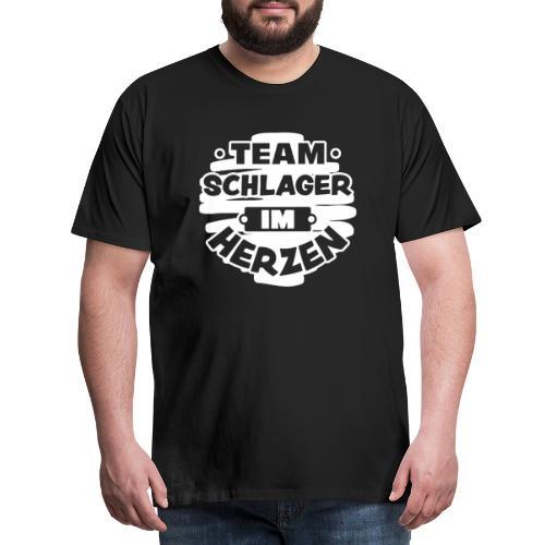 Team Schlager im Herzen, Funshirt Fan, Geschenk - Männer Premium T-Shirt