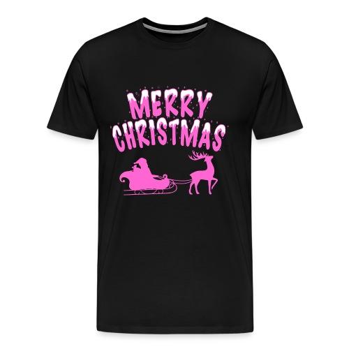 Merry Christmas Pink - Männer Premium T-Shirt