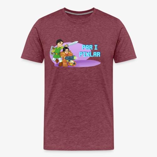 Par i pixlar png - Premium-T-shirt herr