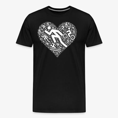 Triathlon Herz | Geschenkidee für Triathleten - Männer Premium T-Shirt