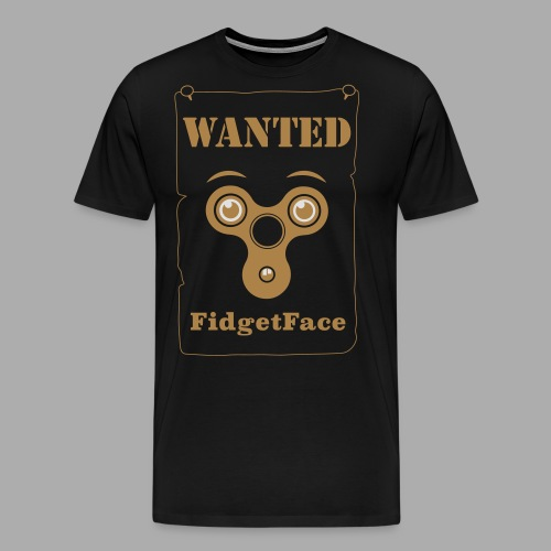 Fidget Spinner Face Wanted - Men's Premium T-Shirt