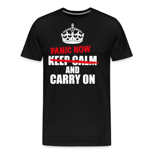Keep Calm - Premium T-skjorte for menn