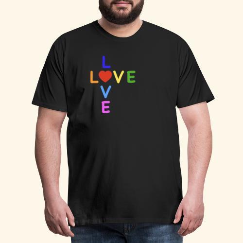 Rainbow Love. Regenbogen Liebe - Männer Premium T-Shirt