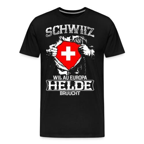 Schwiiz - Europa - Helde - Männer Premium T-Shirt