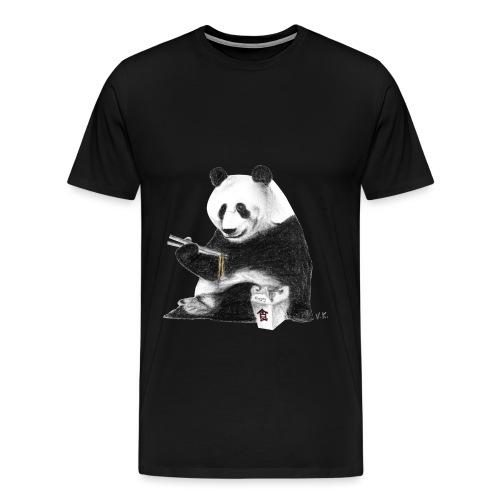Panda Eating Noodles - Men's Premium T-Shirt